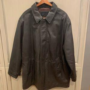 Perry Ellie's portfolio genuine leather coat